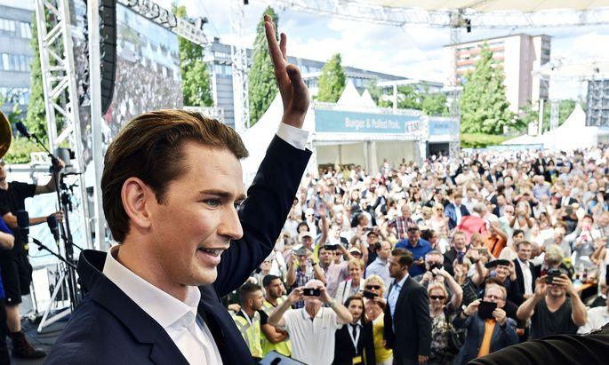 Für ÖVP-Chef Sebastian Kurz wird fleißig gespendet