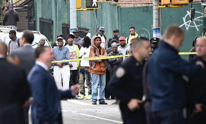 Ein Bild vom Tatort in Brooklyn.