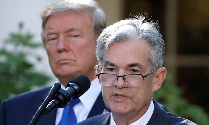 Donald Trump ist nicht glücklich mit Fed-Chef Jerome Powell
