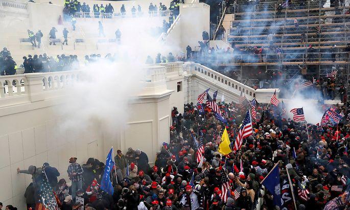 Polizei warnt : Trump-Anhänger wollen Kapitol