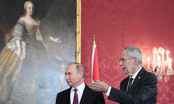 Vladimir Putin und Alexander van der Bellen.