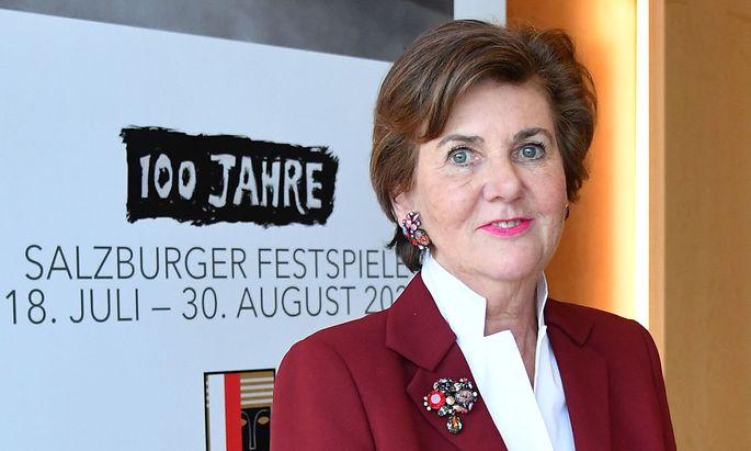 Helga Rabl-Stadler, Präsidentin der Salzburger Festspiele, steht vor einem Jubiläumsjahr mit zahlreichen Veranstaltungen.