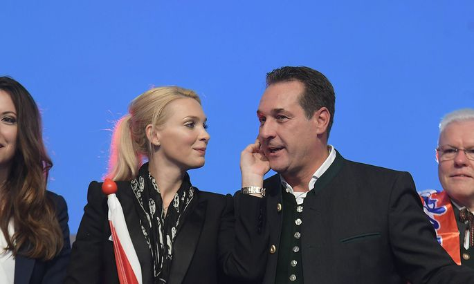 Wahlkampfauftakt - Wahlveranstaltung der Freiheitlichen Partei �sterreichs f�r die Nationalratswahl im Oktober 2017, in