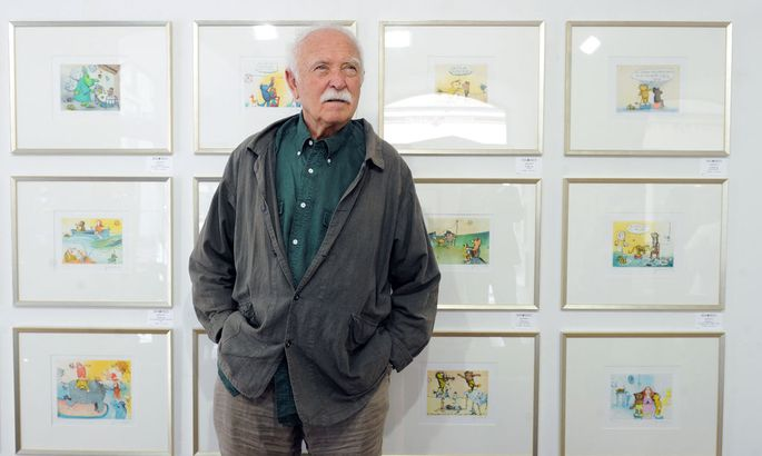 Janosch in der Wiener Galerie Augustin, wo noch bis 2. Juli seine Bilder zu sehen sind.