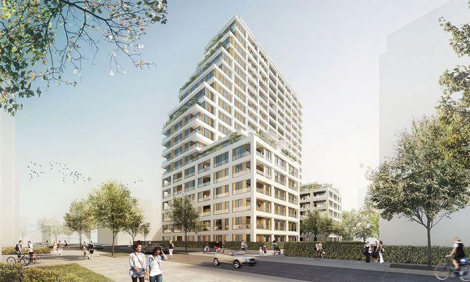 Lukrativer Markt: Den 21-geschoßigen Wohntower Cascada im Europaviertel von Frankfurt hat der Projektentwickler 6B47 im Dezember verkauft.