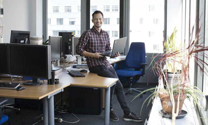 """Ich bin eine Art Informatik-Neurobiologie-Dolmetscher"", scherzt Florian Ganglberger."