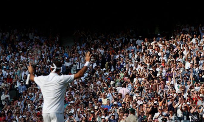 Ein Klassiker: Das Tennisturnier in Wimbledon war immer ein Publikumsmagnet.