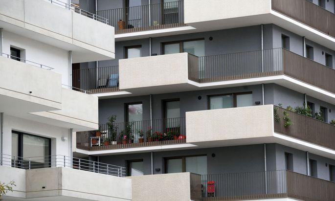 Wohnungen in der Seestadt Aspern.