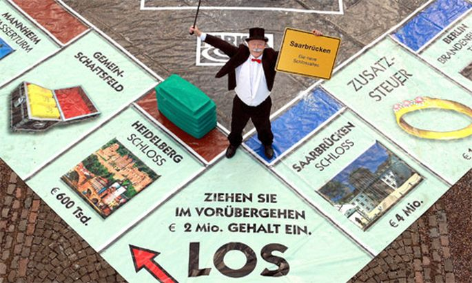 Monopoly Spiel Stadt Glueck