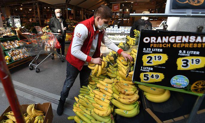 Datenerhebung im Supermarkt.
