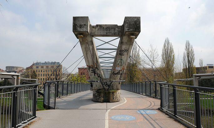 Brückenkopf am Donaukanal in Wien