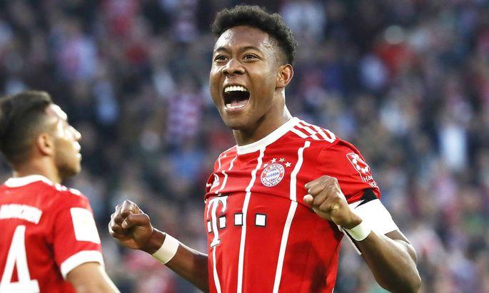 Fussball Bundesliga FC Bayern Muenchen Borussia Moenchengladbach David Alaba hat soeben das 4 1 fuer