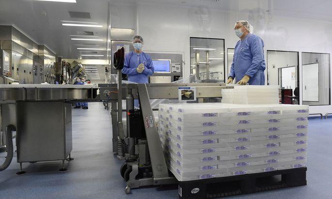 Biontech/Pfizer-Werk im belgischen Puurs