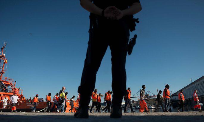 Neuankömmlinge ohne Ende im Hafen vom Málaga