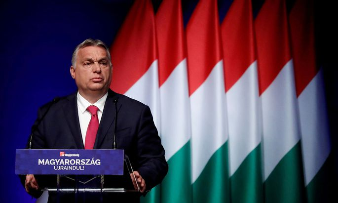 FILE PHOTO: Hungarian PM Orban attends a business conference in Budapest