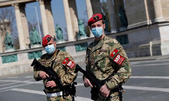 Militärpolizei in Budapest