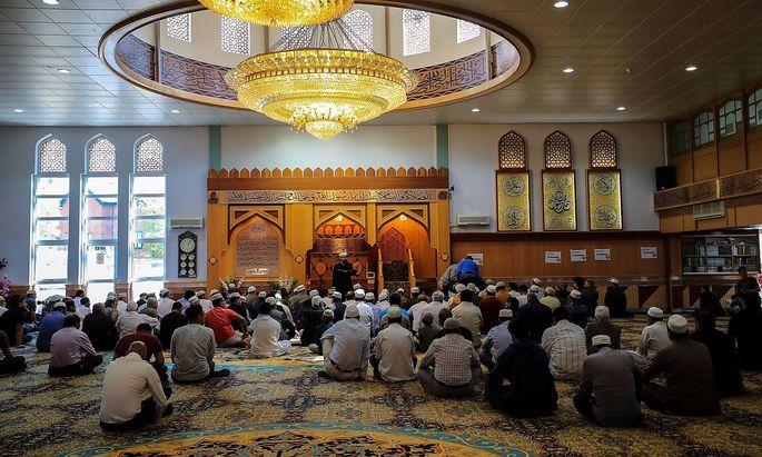 Die zentrale Moschee von Manchester.