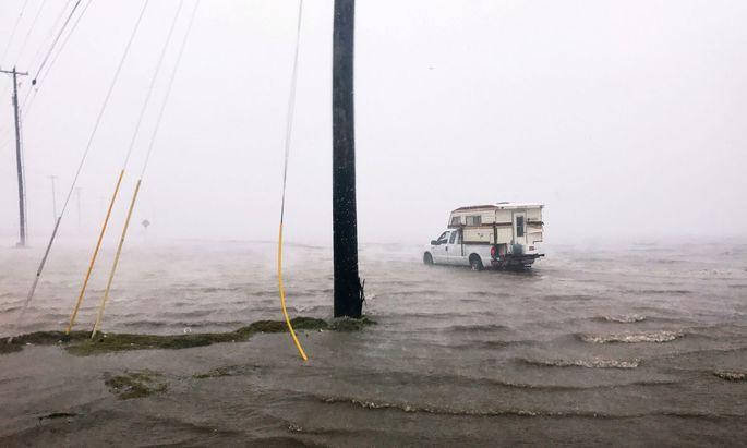 Überflutungen in der texanischen Hafenstadt Corpus Christi.