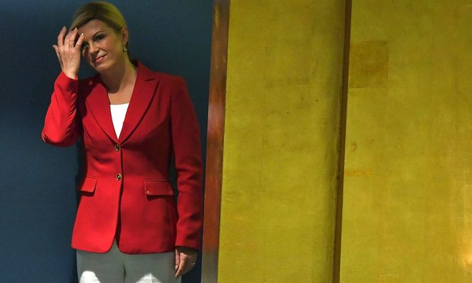 Kolinda Grabar Kitarovic bei der UNO-Generalversammlung in New York im September 2018.