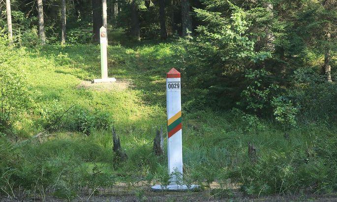 Die litauisch-belarussische Grenze wird mehr und mehr zum Politikum.