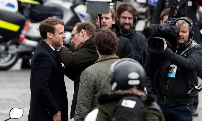Emmanuel Macron (l.) hat die Wahl gewonnen
