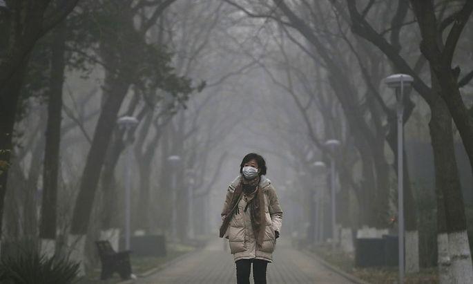Masken gegen die Feinstaubpartikel in der Luft.