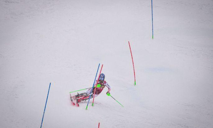 Behielt den Durchblick im Schneegestöber: Marco Schwarz fuhr in Kranjska Gora die entscheidenden Punkte nach Hause.