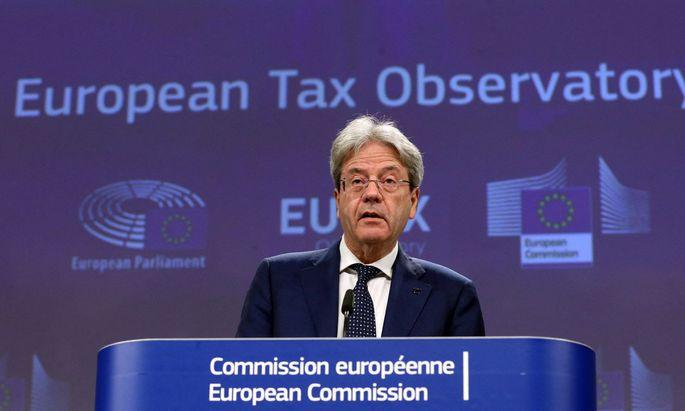 EU-Finanzkommissar Paolo Gentiloni