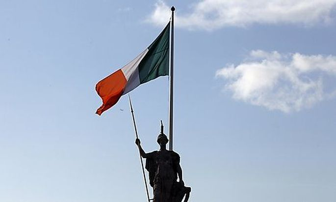 The Irish flag flies above the General Post Office on OConnell Street in DublinConnell Street in Dublin