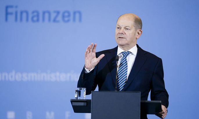 Pressekonferenz zur Steuerschaetzung im BMF mit Bundesfinanzminister Olaf Scholz, SPD. Berlin, 30.10.2019. Berlin Deutsc