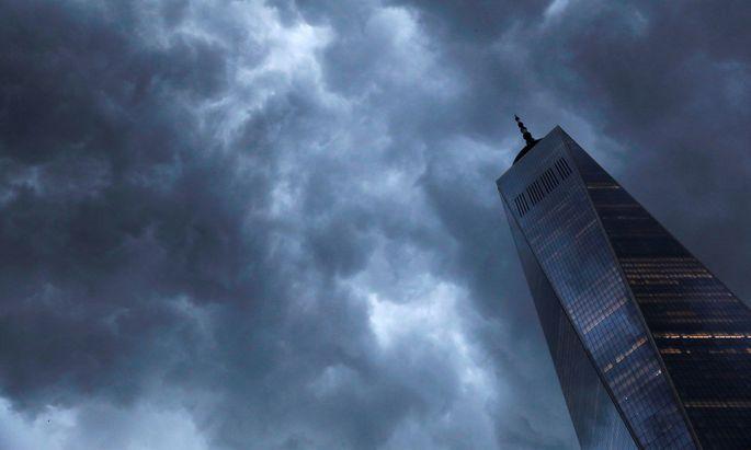 Gewitterwolken über Manhattan.