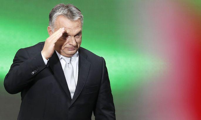 Viktor Orbán bei einer Gedenkfeier anlässlich des 61. Jahrestages der Ungarn-Aufstände gegen die Kommunisten.