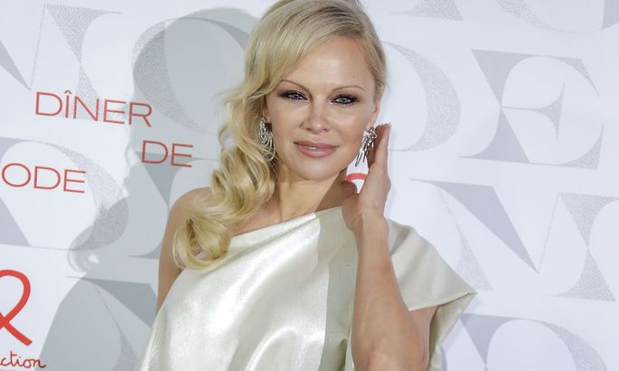Pamela Anderson beim 'Diner de la Mode' am 24. Jänner 2019 in Paris.
