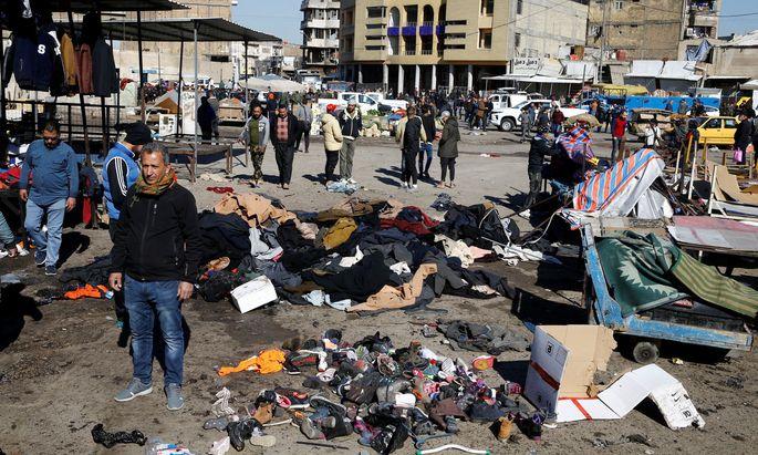 Die IS-Extremisten bekennen sich zum brutalen Attentat in Bagdad.