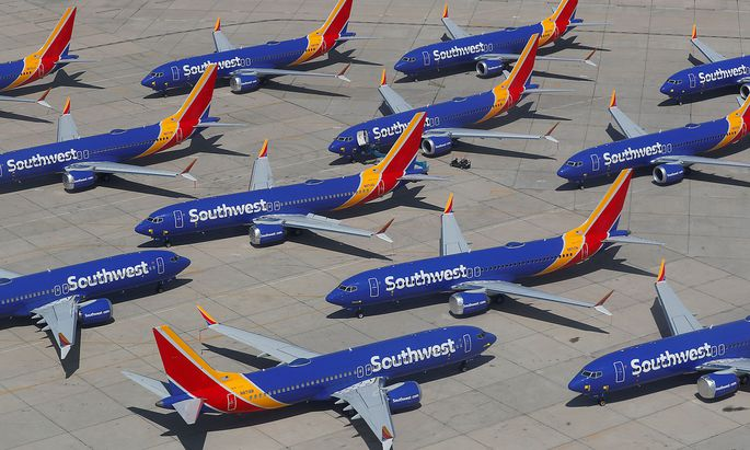 Die Boeing 737 MAX 8 hat aktuell Flugverbot.