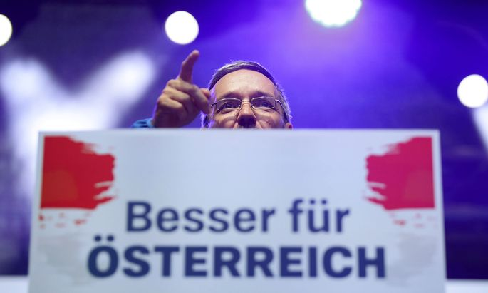 Freedom Party's rally ahead of Austria's parliamentary election in Vienna