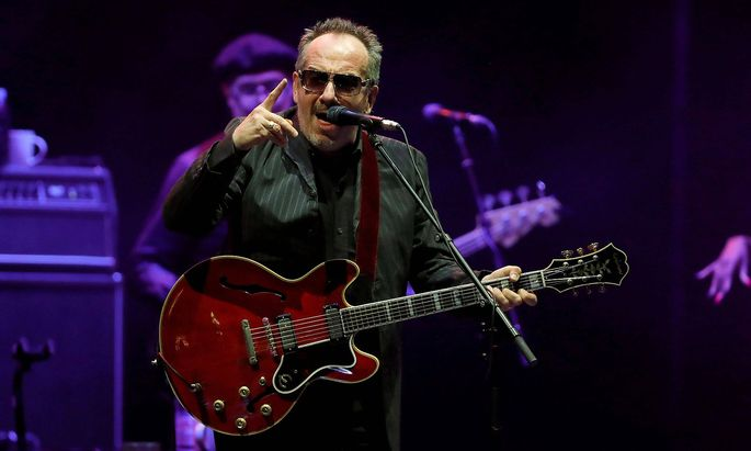British composer Elvis Costello C and The Imposters band perform in a concert held as part of Noch