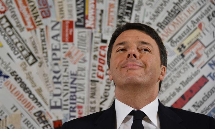 ITALY-GOVERNMENT-RENZI-ANNIVERSARY