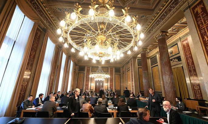Lokal VI. im Parlament, wo der Eurofighter-U-Ausschuss abgehalten wird.