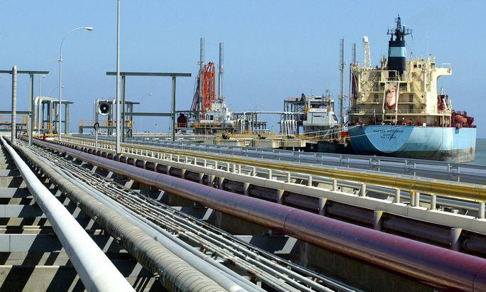 FILE PHOTO: An oil tanker is seen at Jose refinery cargo terminal in Venezuela