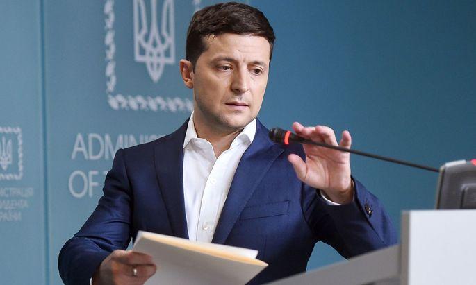 Wolodymyr Selenskyj kündigte an, den Konflikt im Donbass rasch klären zu wollen.