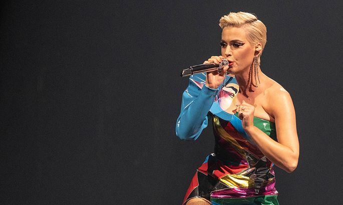April 7 2019 Katy Perry during the NCAA March Madness Music Series at The Armory in Minneapolis