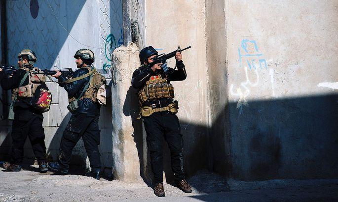 Irakische Anti-IS-Einheiten.