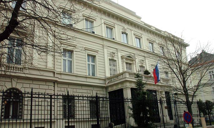 Die russische Botschaft in Wien.