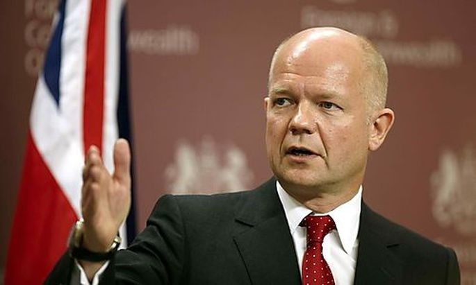 William Hague leitet den Krisengipfel der Briten