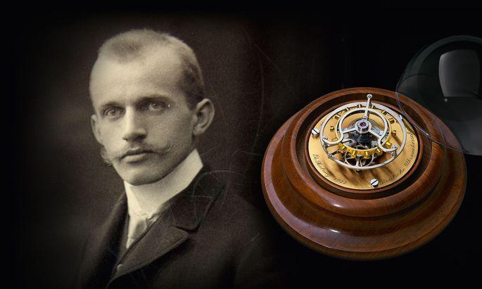 Der Schöpfer. Alfred Helwig widmete sich ab 1920 der Kreation fliegender Tourbillons.
