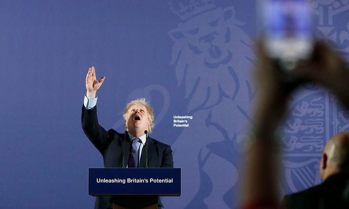 Premier Johnson will in den Verhandlungen mit der EU hart bleiben.