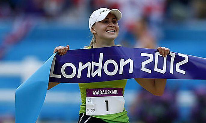 Die Litauerin Laura Asadauskaite ist die letzte Goldmedaillen-Gewinnerin der Olympischen Spiele von London