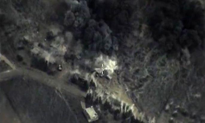 Satellitenaufnahmen der Bombardements.