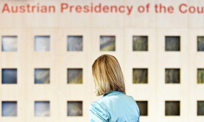 EU-Außenbeauftragte Federica Mogherini beim informellen Rat der Verteidigungsminister in Wien.